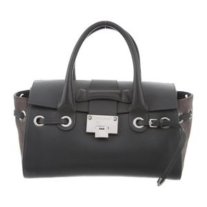 Jimmy Choo Charcoal Suede&Leather Rosalie Satchel